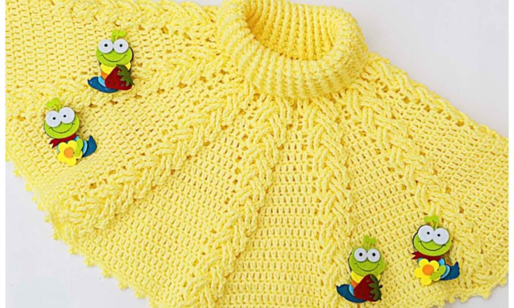 This image has an empty alt attribute; its file name is Crochet-Fast-And-Easy-Baby-Girl-Poncho-1-1024x615.jpg